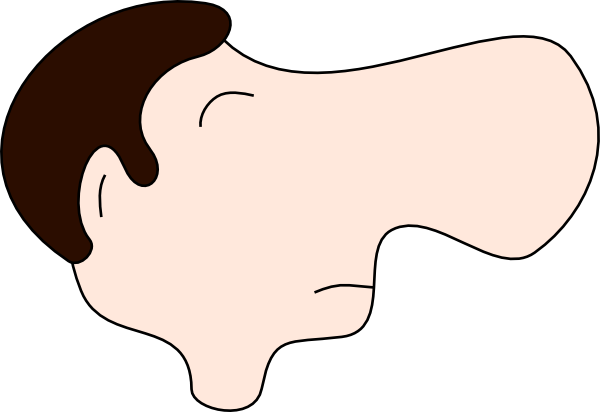jpg freeuse library Nosed man clip art. Big clipart.