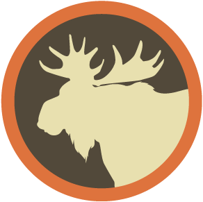 svg transparent library Newfoundland game hunting moose. Big clipart bear hunt.