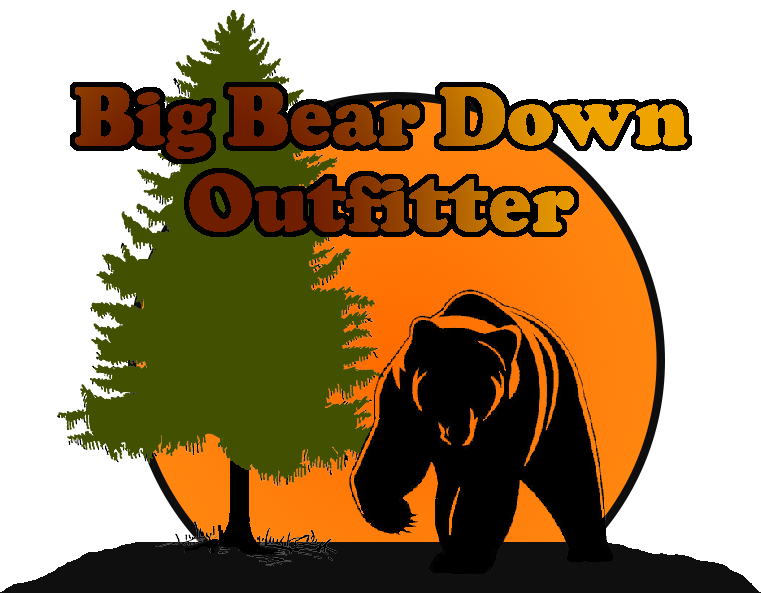picture royalty free Big clipart bear hunt. Down outfitter northeastern ontario.