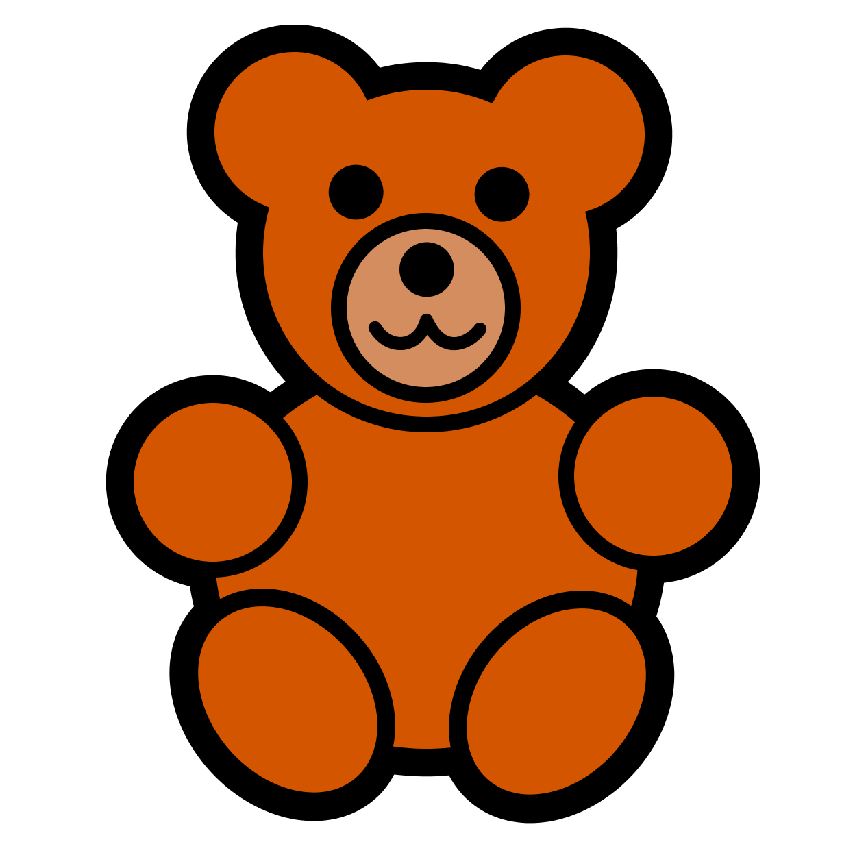 vector freeuse stock Teddy Bear Clip Art Large Images