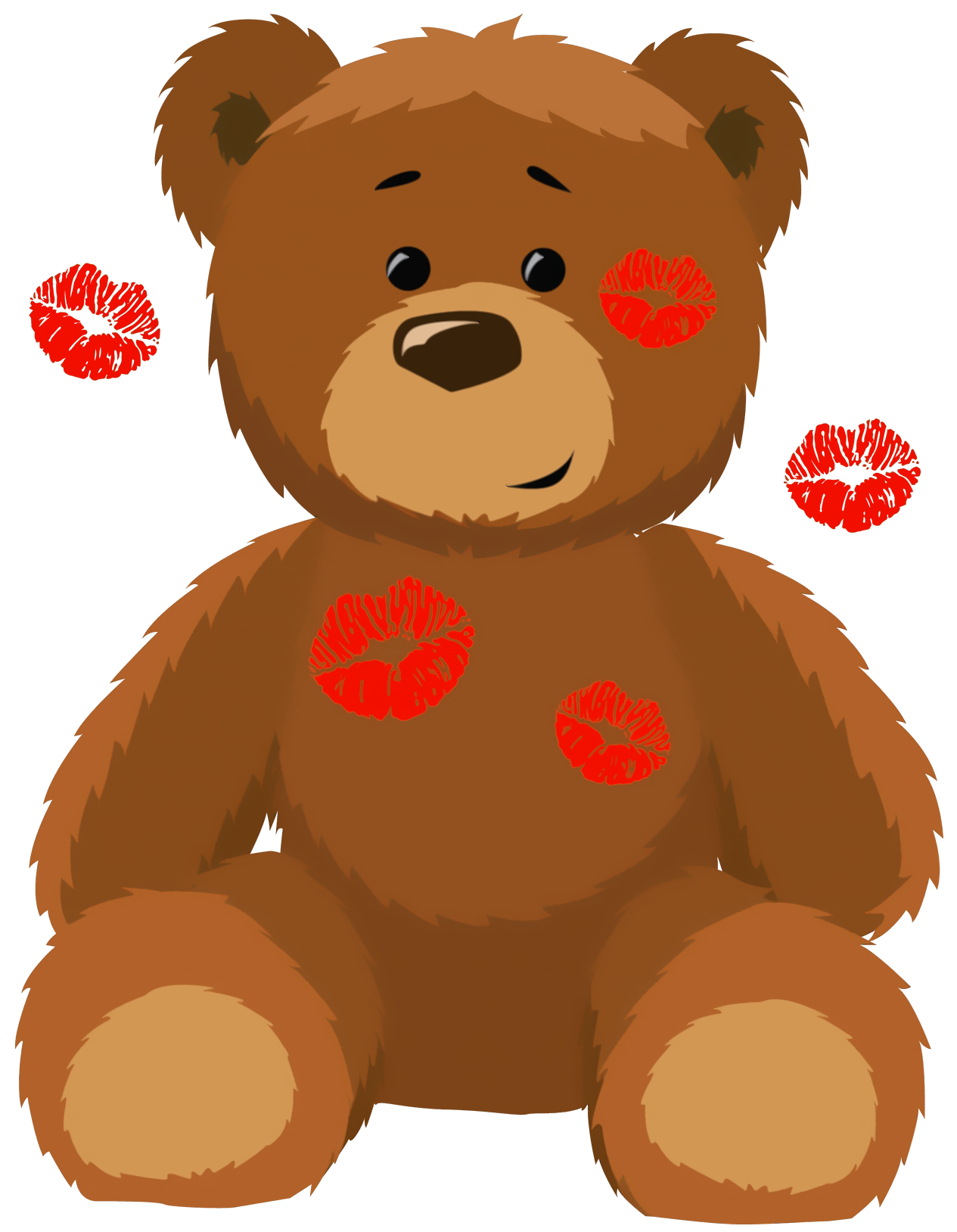 png black and white Valentines Bear Clipart