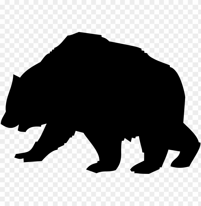 jpg transparent download Silhouette of a png. Big clipart cave bear.