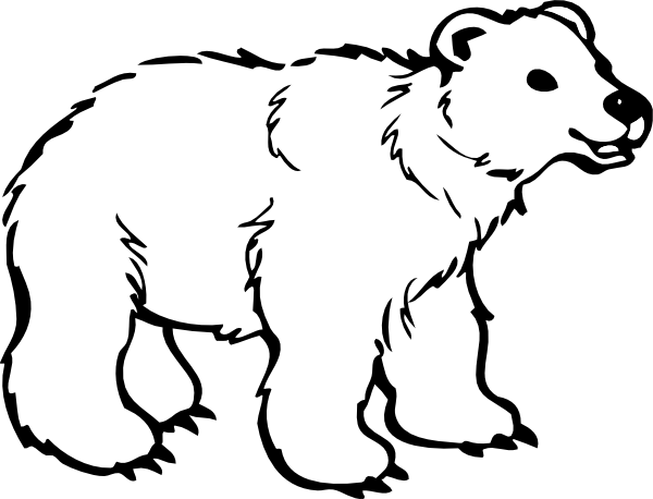 graphic black and white Bigger Polar Bear Clip Art at Clker