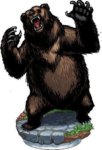 banner freeuse Image figure png blood. Big clipart cave bear.