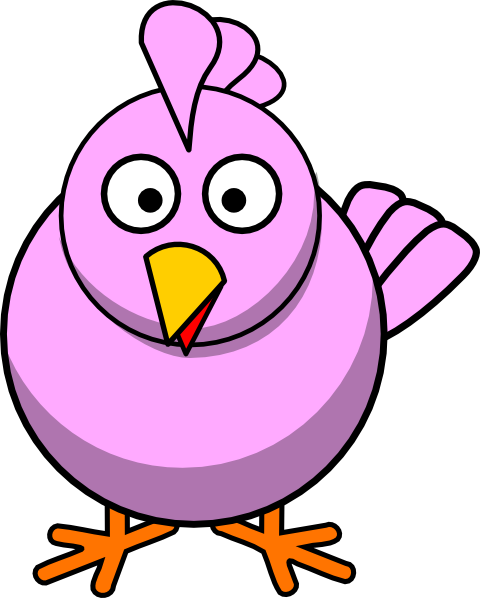 vector stock Pink clip art at. Big clipart chicken chick.