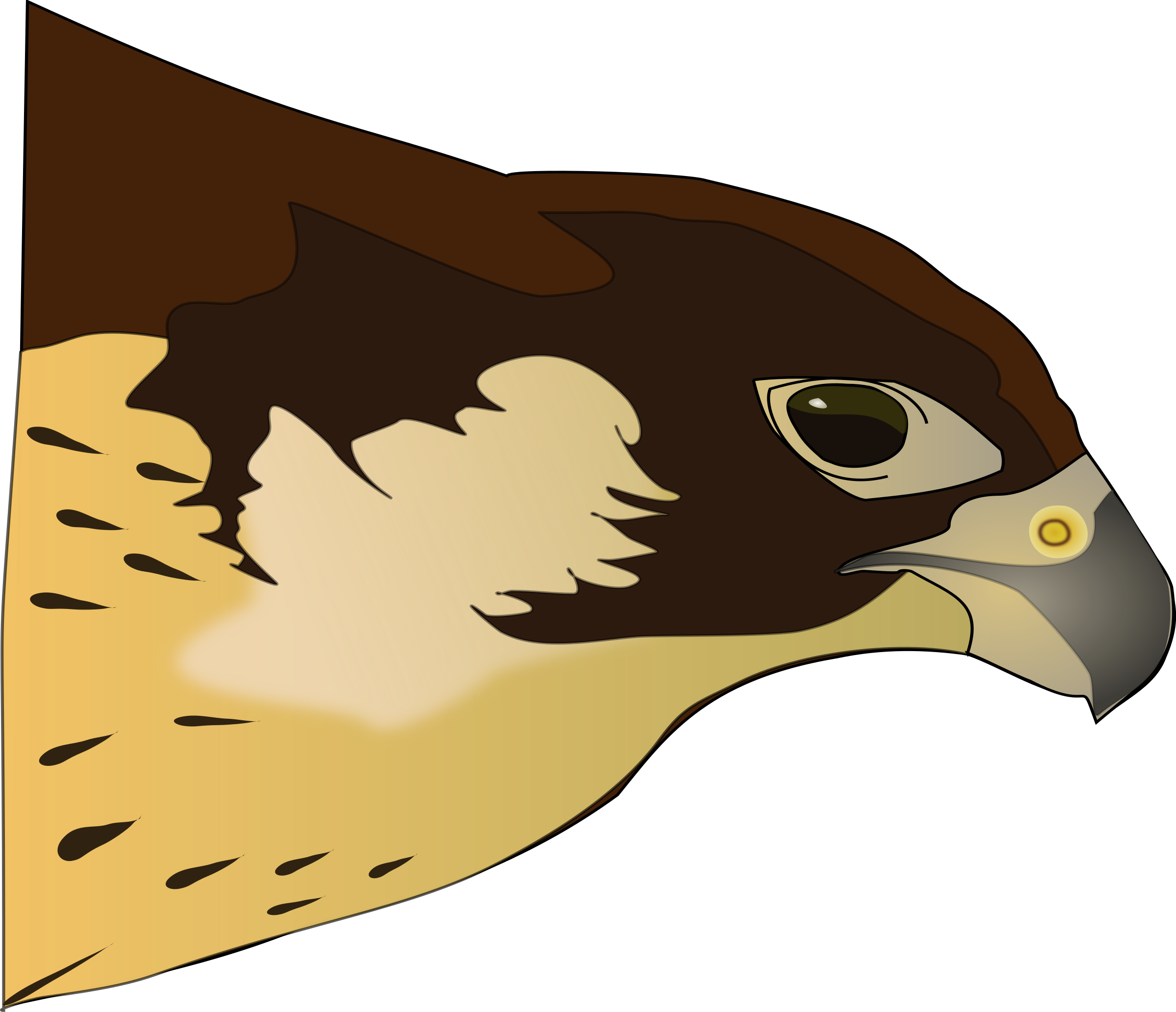 clip art freeuse library Falcon transparent free for. Big clipart prey.