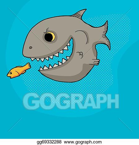 graphic library download Big clipart prey. Eps vector fish chasing.