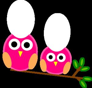 svg transparent And little pink owls. Big clipart prey.