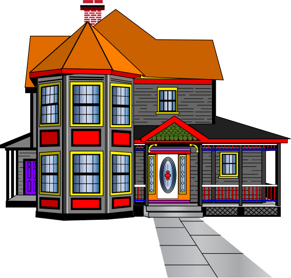 png black and white Big House Clipart