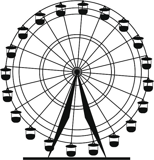 png freeuse stock Ferris free download best. Big wheel clipart.