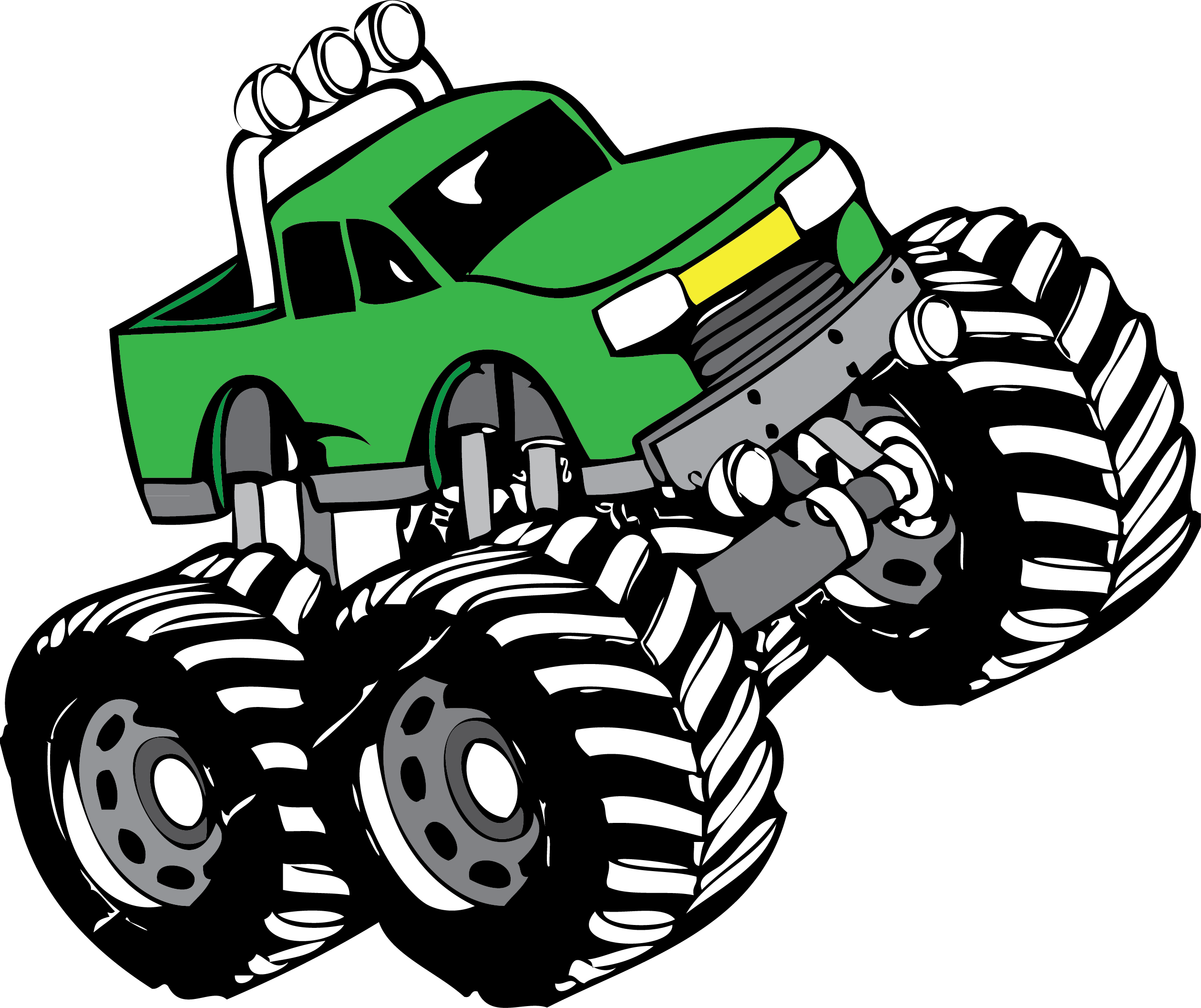 banner royalty free Trucks drawing lifted truck. Monster clip art pinterest.