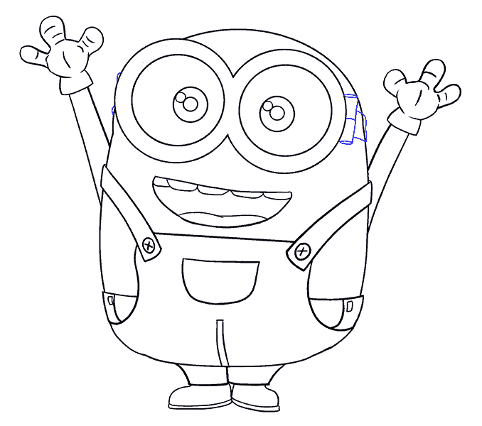 image free stock How to Draw Bob the Minion