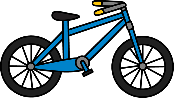 image stock Blue bike . Bicycle clipart transportation.