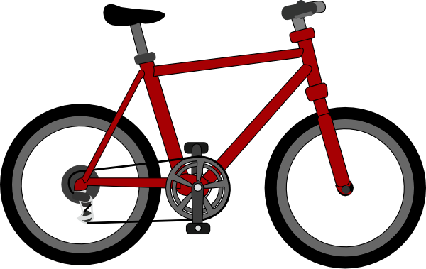 graphic transparent stock Bike clipart. Spoilt wheel clip art