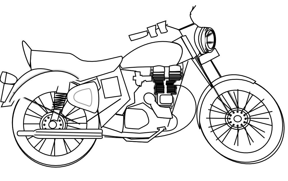 clip transparent library  collection of motor. Engine clipart black and white