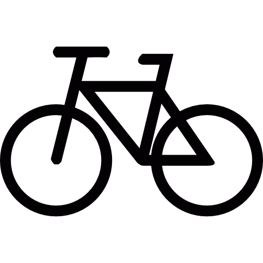 jpg library library Bike clipart pushbike. Cycling vehicle transport icon.