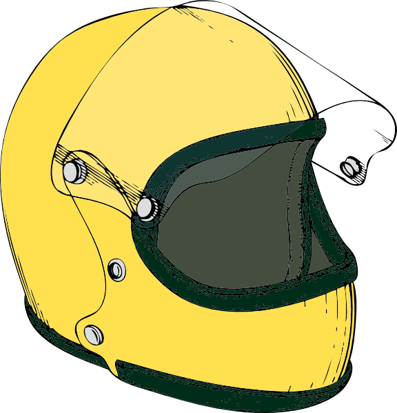 vector freeuse library Crash Helmet Clip Art at Clker
