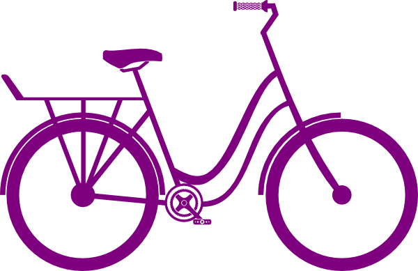 picture black and white Collection of free Cycled clipart purple bike