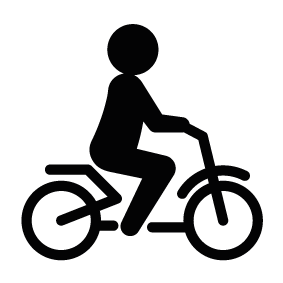 clip free Silhouette Bike Rider at GetDrawings