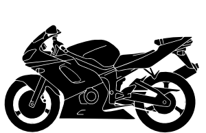 image freeuse library Motorcycle Silhouette Vector by
