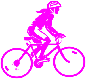 clipart library library Female Pink Biker Clip Art at Clker