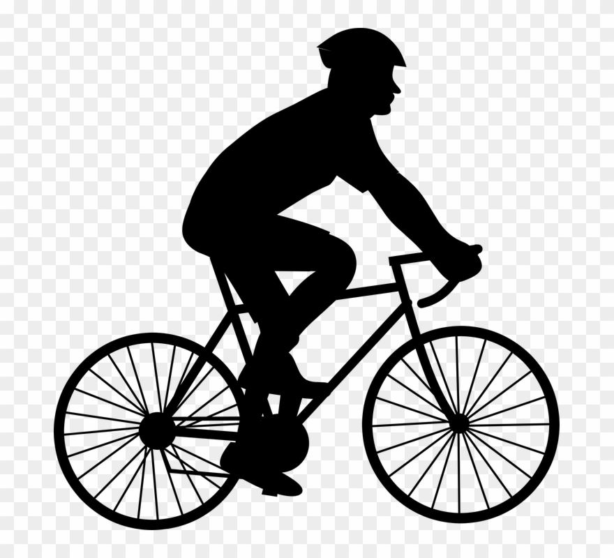 freeuse Black and white pictures. Biking clipart.