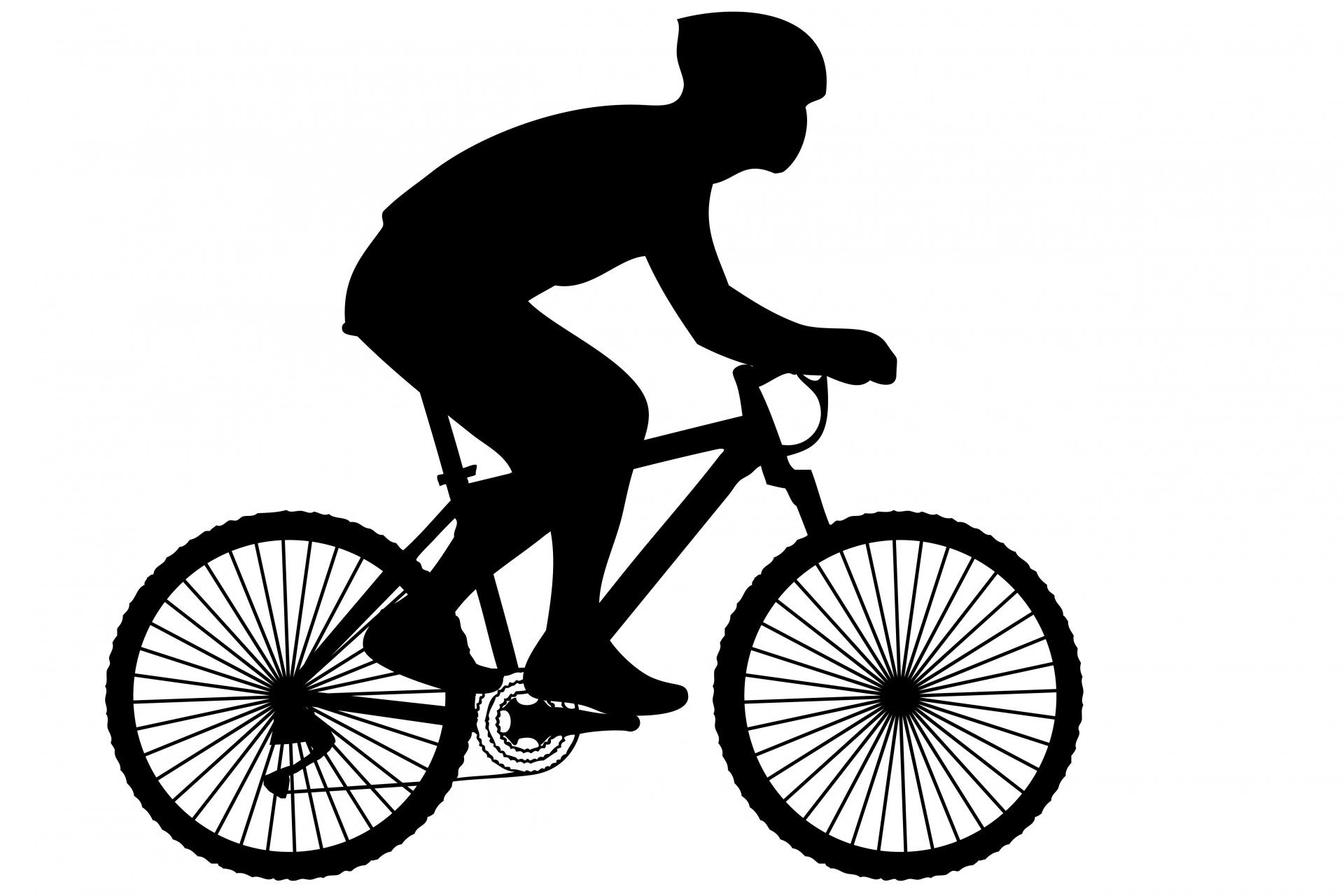 svg library download Biking clipart. Black silhouette of a.