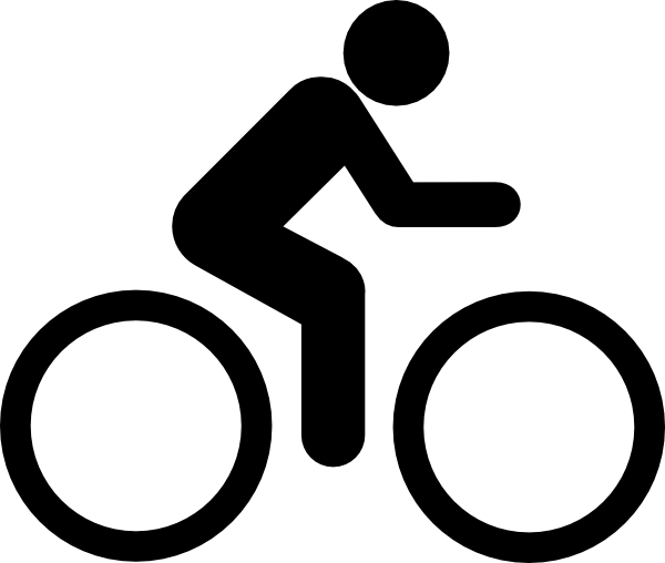 graphic free stock Black bike clip art. Biking clipart.