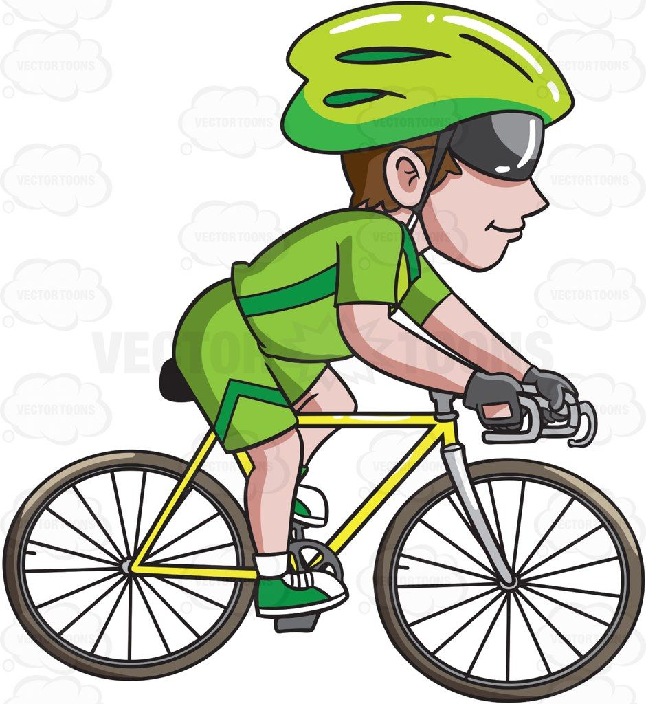 png freeuse download Biking clipart bike helmet. A man riding road.