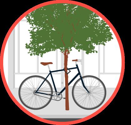 clipart stock Your bike boston gov. Sidewalk clipart park path