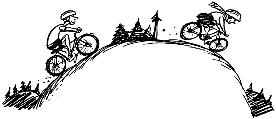 clipart royalty free download Branch silhouette bicycle cycling. Biking clipart tree.