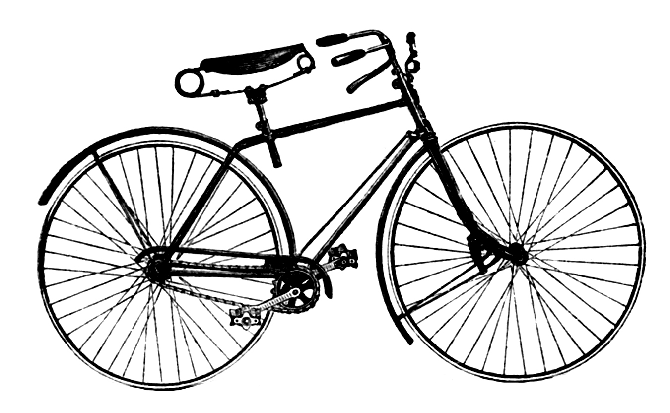 svg royalty free download Free cliparts download clip. Biking clipart vintage bicycle.
