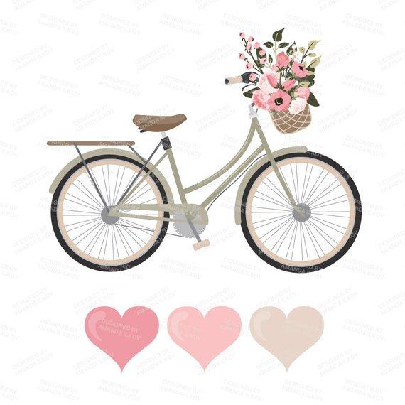 vector black and white download Biking clipart wedding. Premium vectors soft pink.