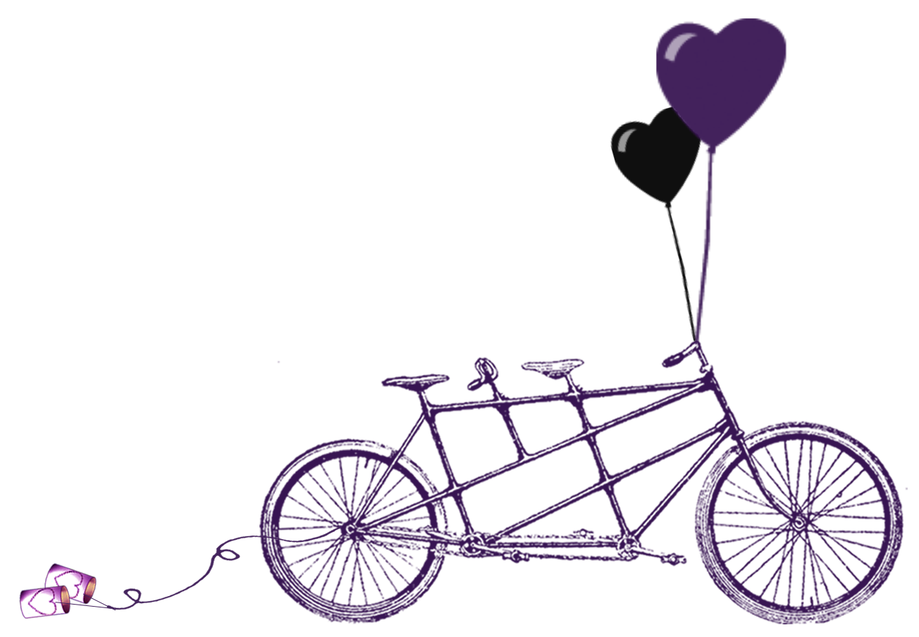 clip art freeuse download Biking clipart wedding. Printable old bicycle silhouettes.