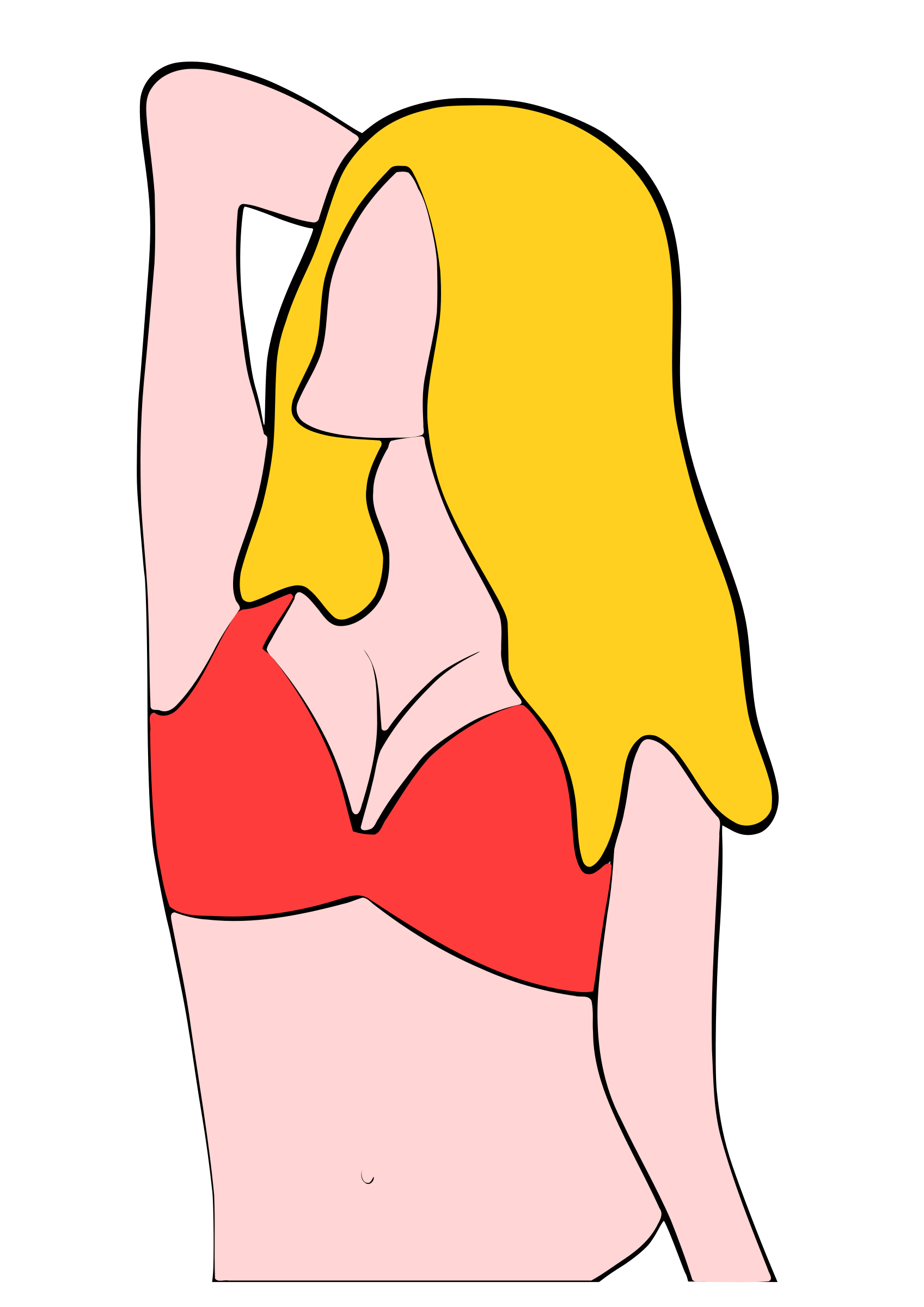 graphic transparent Woman in torso big. Bikini clipart.