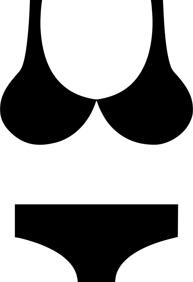 clip stock Bikini vector art. Svg png icon free.