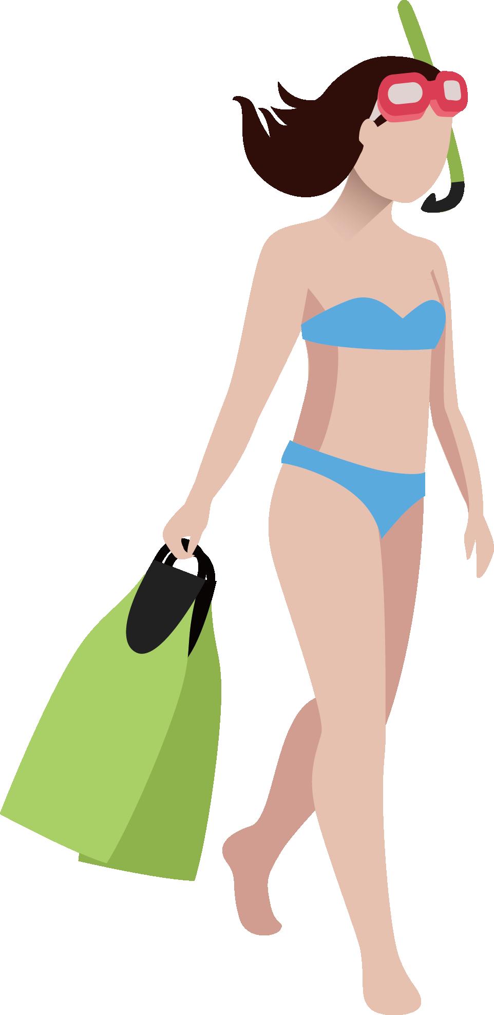 jpg free Bikini drawing illustration. Clip art girls swimming