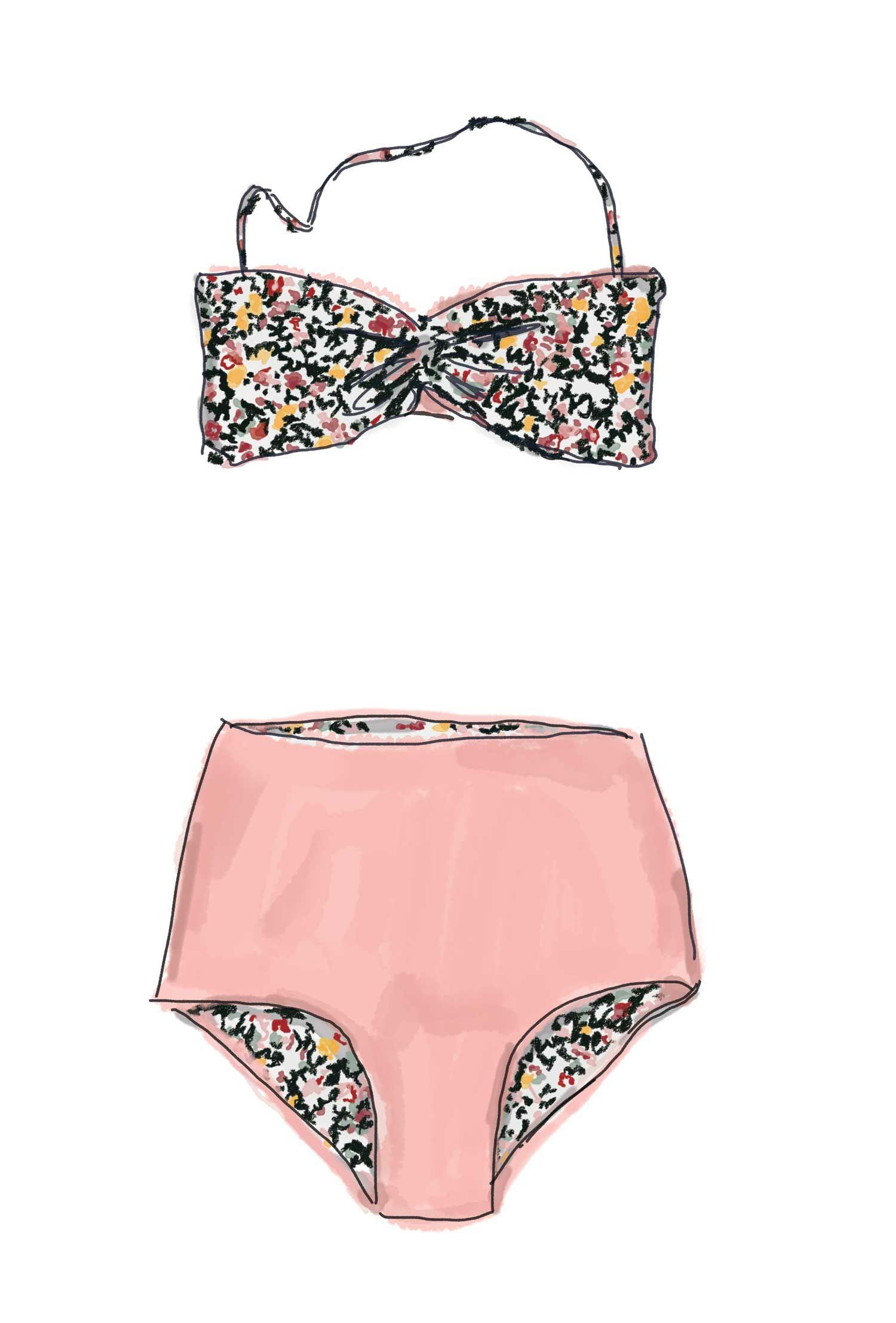 svg black and white Pin on i like. Bikini drawing bathing suit