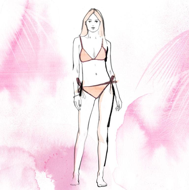 svg stock Bikini drawing beach. The to avoid feel
