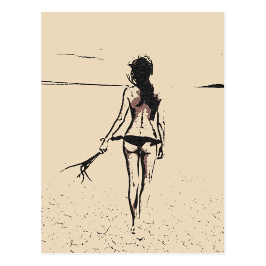 free download Bikini drawing beach. Sexy at the hot