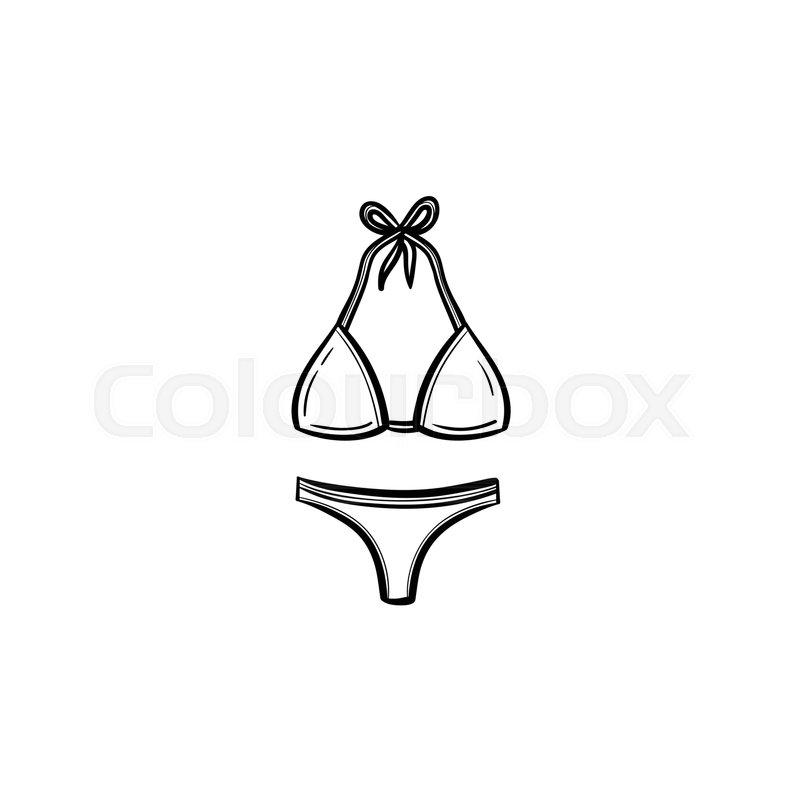 svg transparent Swimwear at paintingvalley com. Bikini drawing black and white