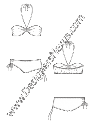 clip art royalty free Free downloads illustrator flat. Bikini drawing bra