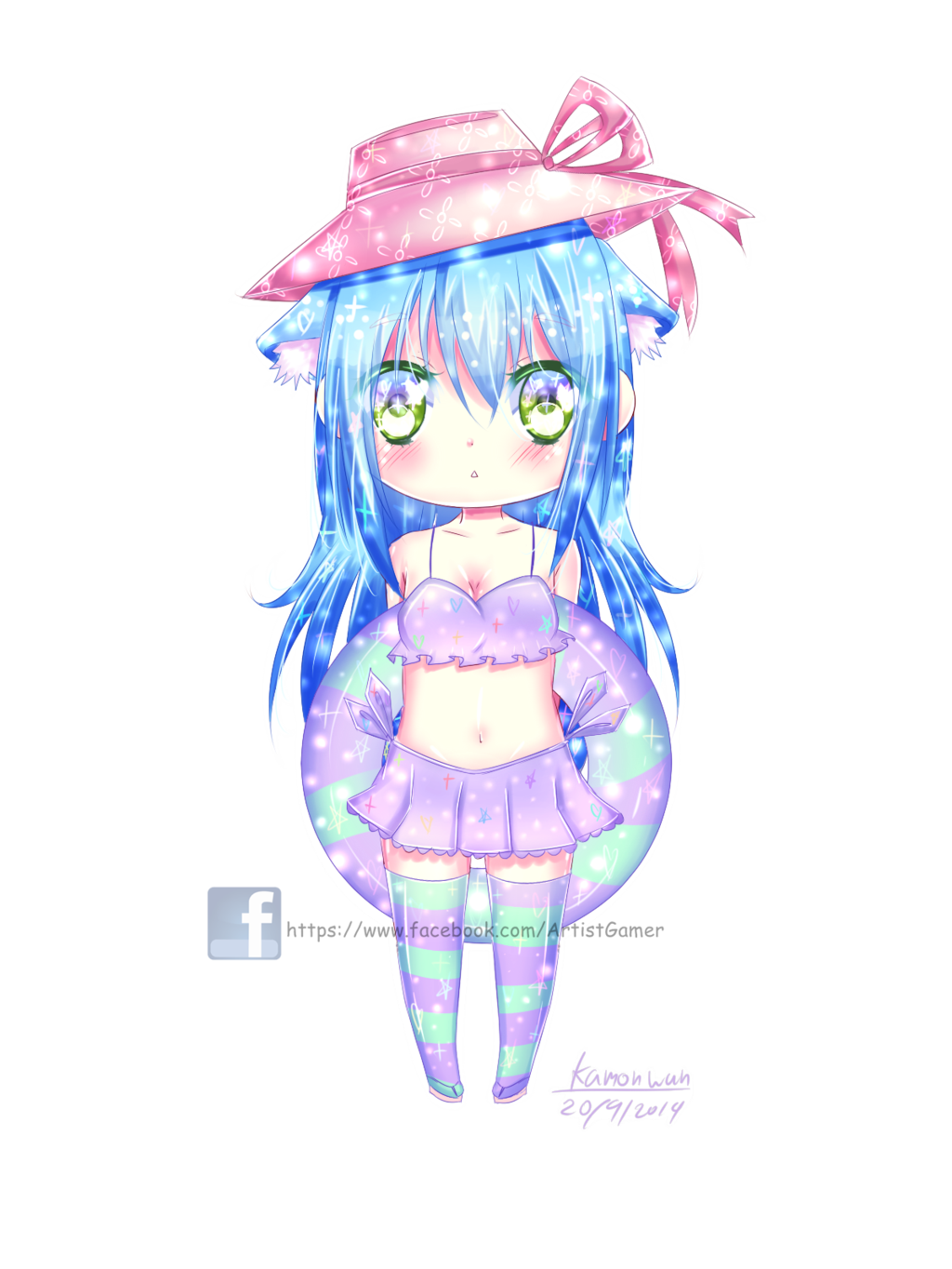 banner royalty free stock Chibi yoli speedpaint by. Bikini drawing cute