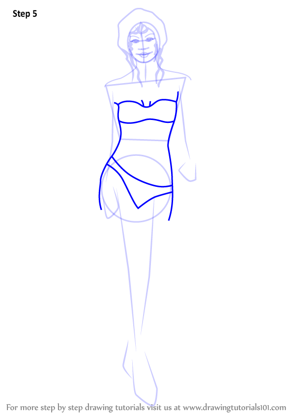 vector free download Learn how to draw. Bikini drawing person