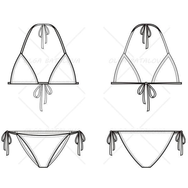 jpg library download Pin on kind of. Bikini drawing sketch