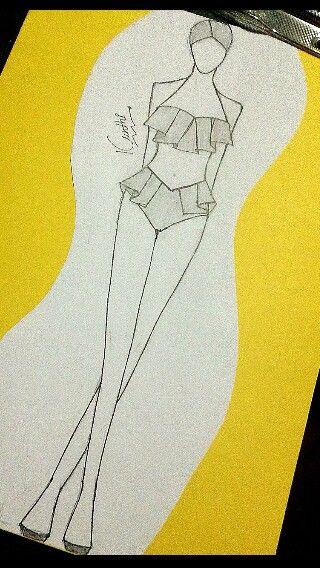 clip art Bikini drawing sketch. In fashion illustration