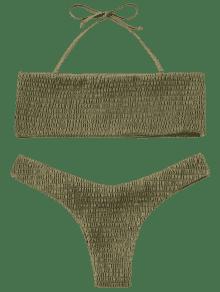 banner freeuse library Bikini transparent beige.  off smocked bandeau