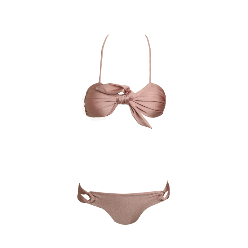 vector transparent Bikini transparent beige. Cleo rose