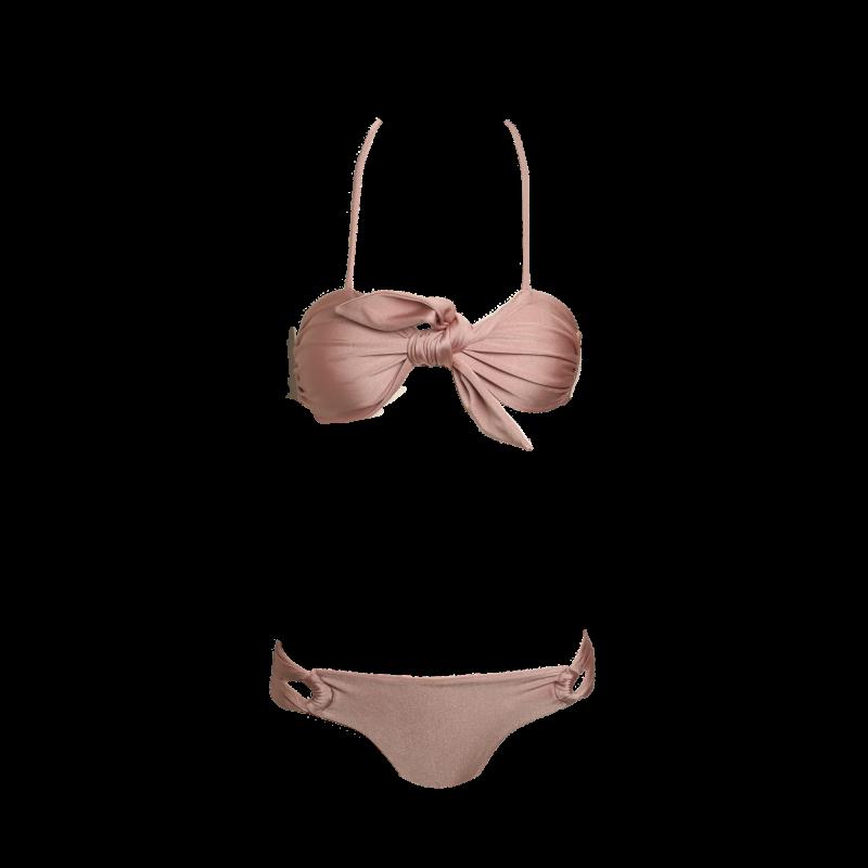 vector transparent Cleo rose . Bikini transparent beige