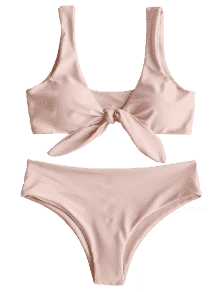 vector black and white library Hot front knot padded. Bikini transparent beige